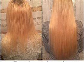 Капсульное наращивание волос.