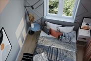 Дизайн спальни в лососёвых оттенках