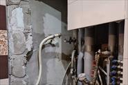 Восстановление сантехнического шкафа, после устранения протечки труб