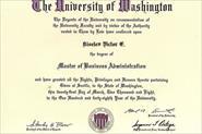 диплом об окончании MBA Washington