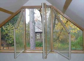 Конструкции остекления - Мансардные, горизонтально-поворотное, утолщенные окна