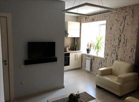Реализованный дизайн интерьера студии 37 кв м