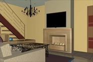 Визуализация дизайн проекта пентхауса
