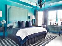 Варианты интерьера спальни в бирюзовых тонах
