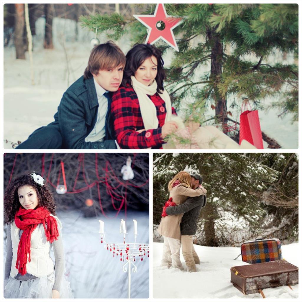 идеи для влюбленных фотосессий зимой