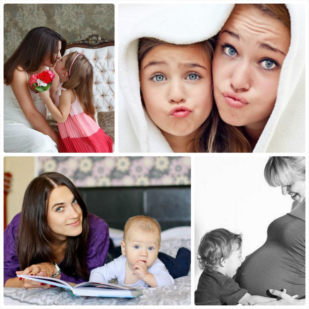 мама с детьми фотосессия