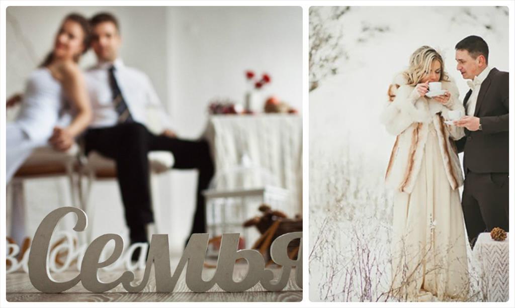 зимняя свадебная фотосессия идеи фото