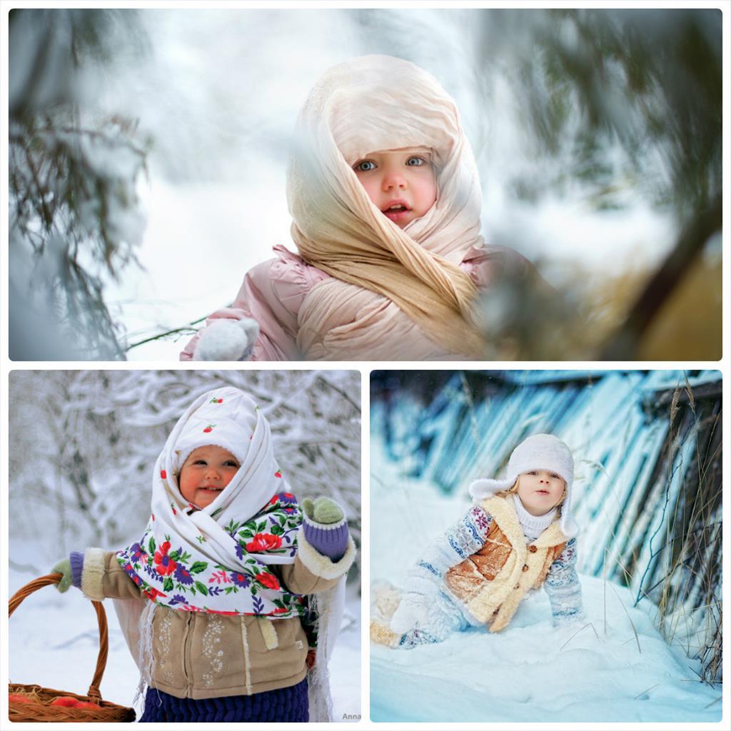 уличная фотосессия зимой