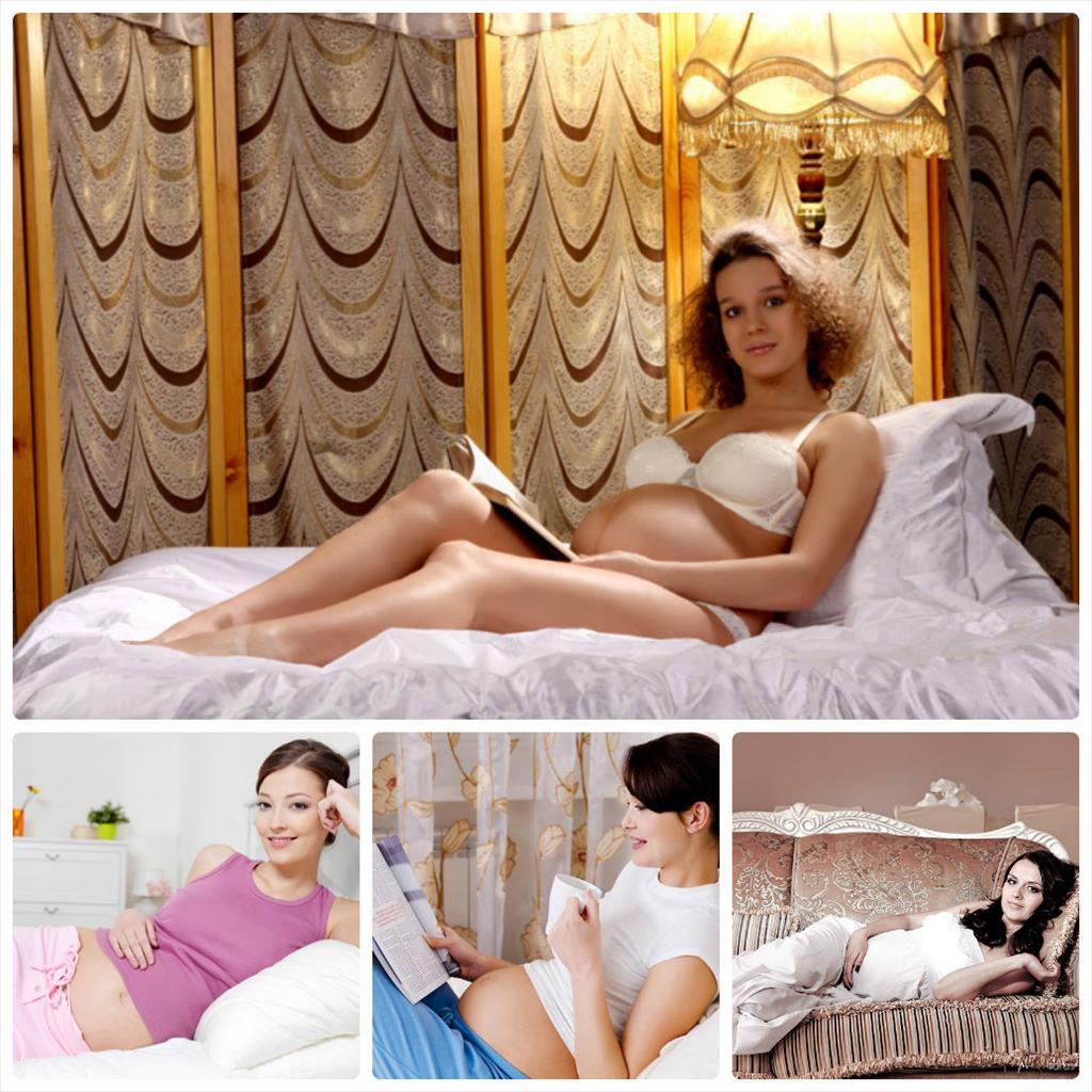 идеи для фотосессии дома беременной