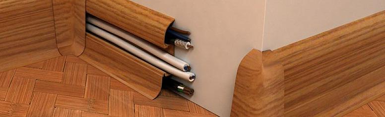 Прокладка провода в кабель канале и установка розеток и выключателей